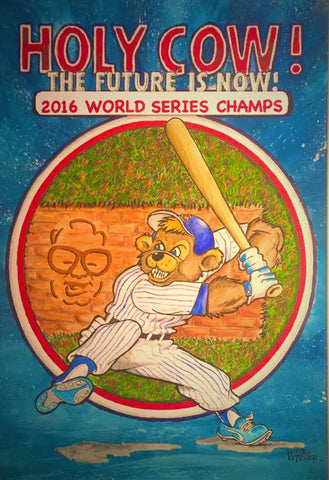 WORLD SERIES CUBBIE BEAR 16x20 POSTER