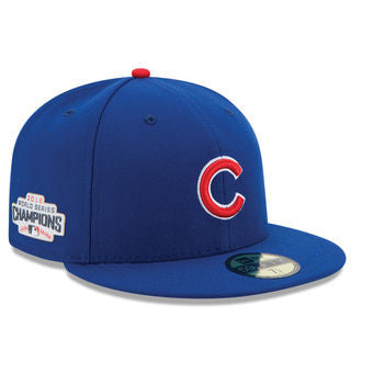 Chicago Cubs New Era 2016 World Series Champions Side Patch 59FIFTY Hat