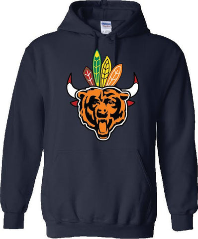 Chicago Mixed Team Navy Hoodie