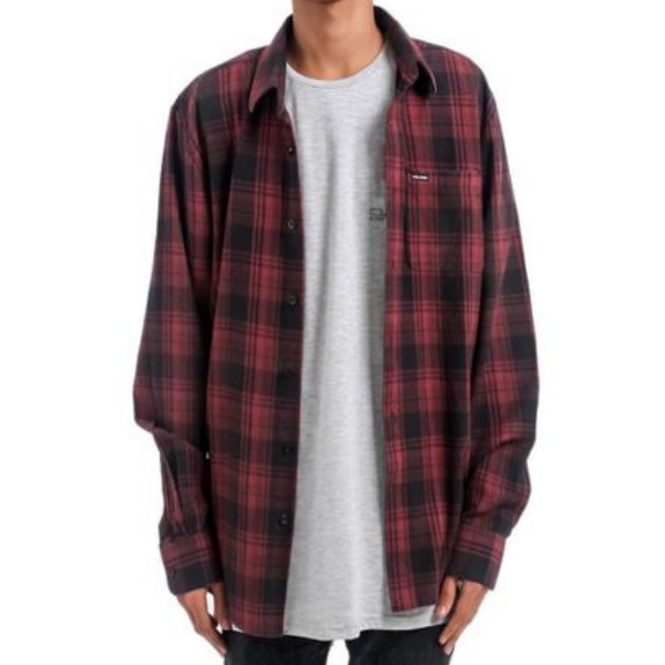 Volcom - Cranmore Flannel (Bordeaux Brown)