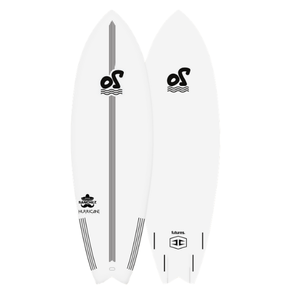5'2'' Sanchez Soft Top Surfboard - 24,5L