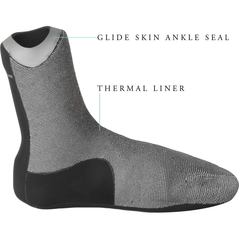 Vissla - 7 Seas 3mm Split Toe Booties (Black)