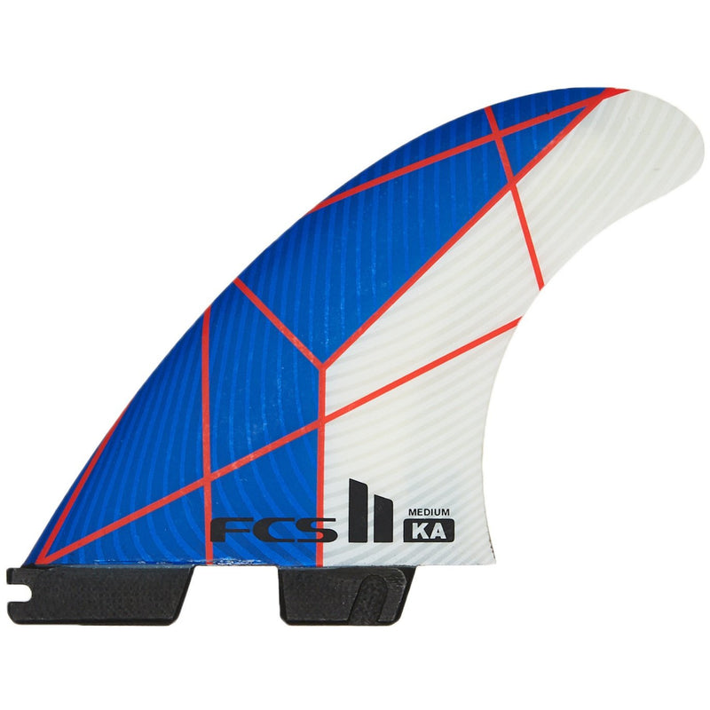 FCS II - KA PC Medium Tri Fins (Blue/White)