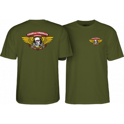 Powell Peralta - Winged Ripper Tee (Millitary Green)