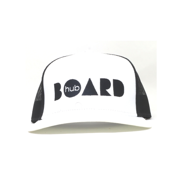 Boardhub - Trucker Cap (White/Black)