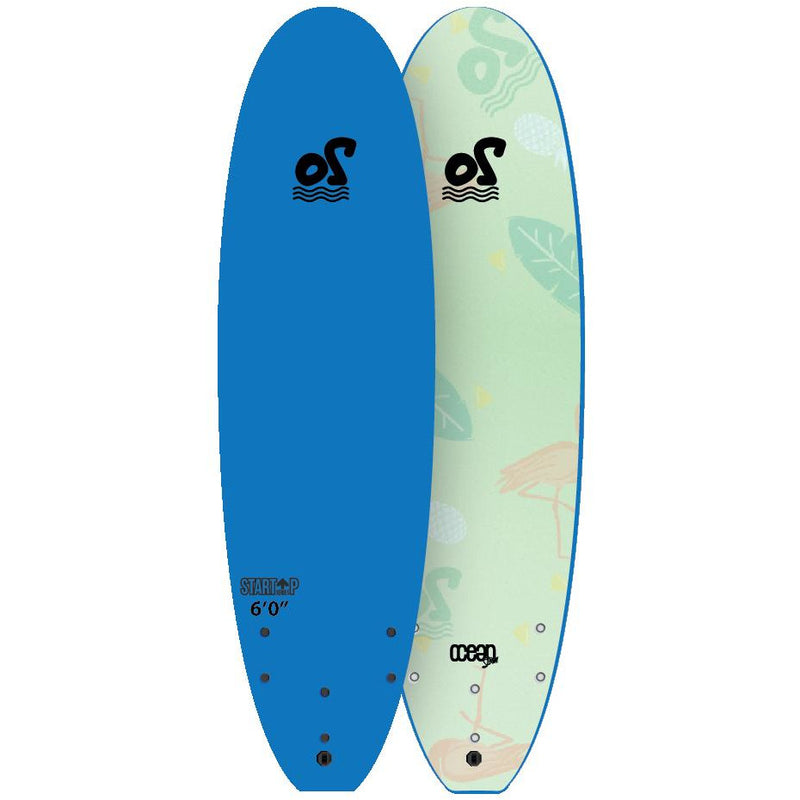 "Ocean Storm - 6'0"" Start Up - Soft Top Surfboard (Blue)"