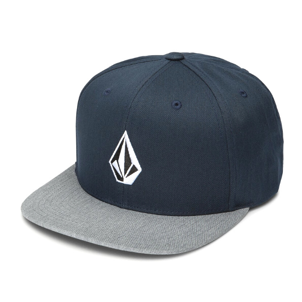 Volcome - Volcome Stone Snapback Hat (Navy/Heather Grey)