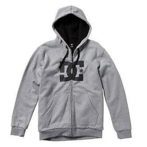 DC - Star Zip Hoodie (Heather Grey)