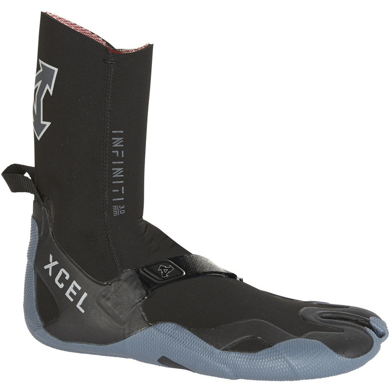 Xcel - 3mm Infiniti Split Toe Boot (Black/Grey)