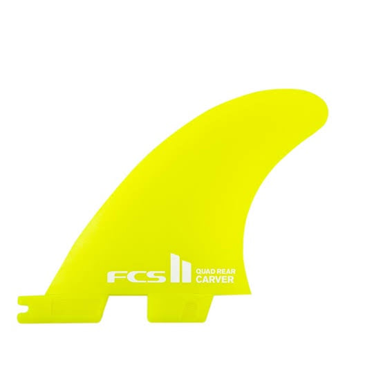 FCS II - Carver Neo Glass Medium Quad Rear Fins (Yellow)