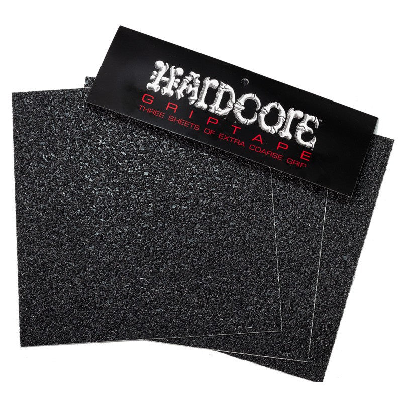 "Hardcore - 11"" x 11"" 32 Grit Grip Tape 3 Pack (Black)"