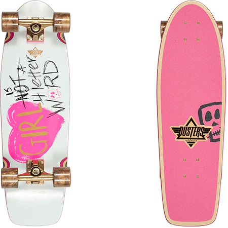 "Dusters - GN4LW Re-Issue Cruiser 28.5"" Complete (Pink/White)"