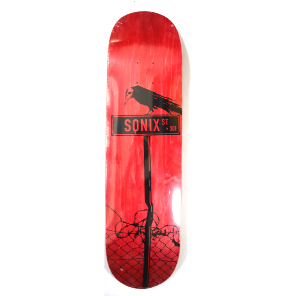 "Sonix - Crow St 8.25"" Deck (Red)"