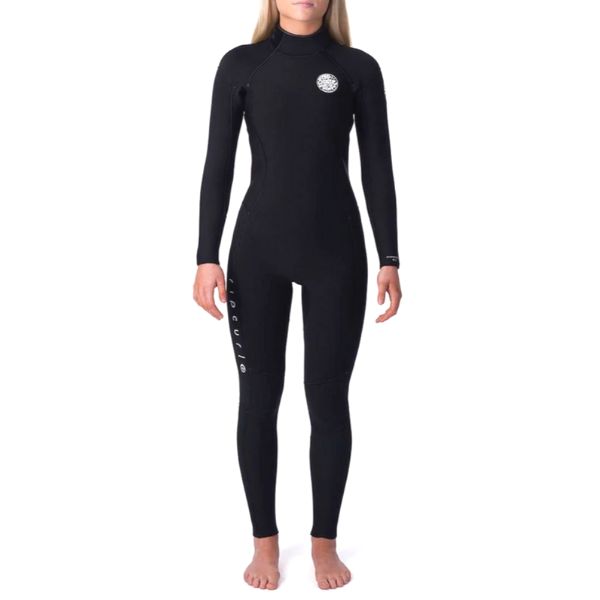 Rip Curl - Womens Dawn Patrol 4/3 B/Z Steamer (Black/Black)