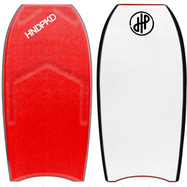"HandPicked - 41"" Bodyboard Half Contours (Red/White)"