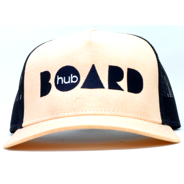 Boardhub - Trucker Cap (Beige/Black)