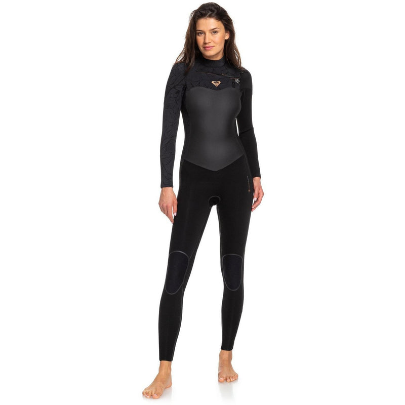 Roxy - 4/3mm Performance Chest Zip Wetsuit (Black)