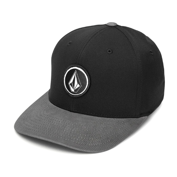 Volcom - V Quarter Stretch Fit Cap (Black/Charcoal)