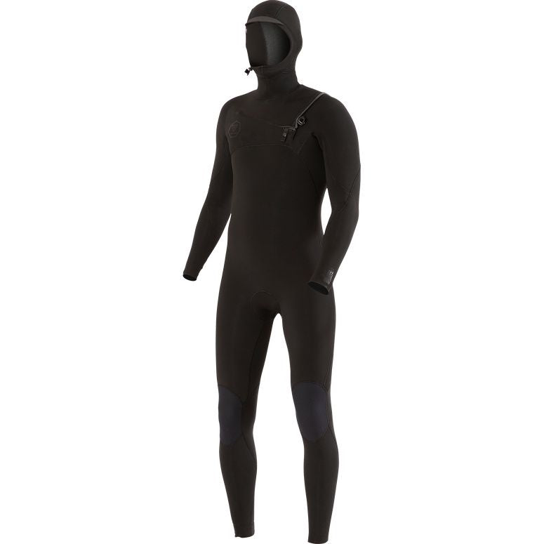 Vissla - 7 Seas 4/3 Hooded Chest Zip Wetsuit (Stealth)
