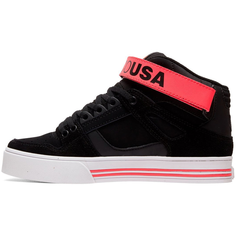 DC - Pure High-Top V (Black/Hot Pink)