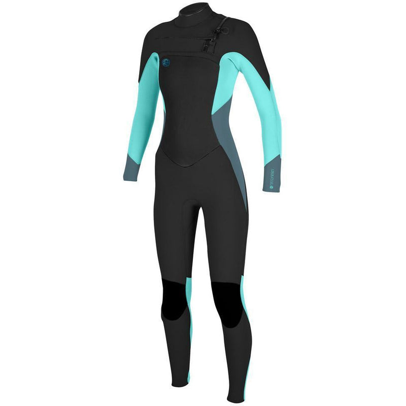 O'Neill - Womens Superfreak 4/3 Full Suit  (Blk/LT Aqua/LT GPFRT)