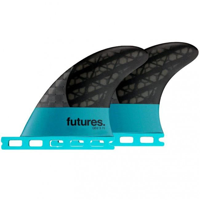 Futures - Blackstix QD2 3.75 (Smoke/Teal)