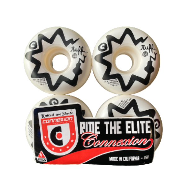 Connexion - RUFF 55mm Wheels  (White/Black)
