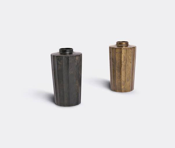 Jurokumen Faceted Brass Flower Vase- GUSOKU 10