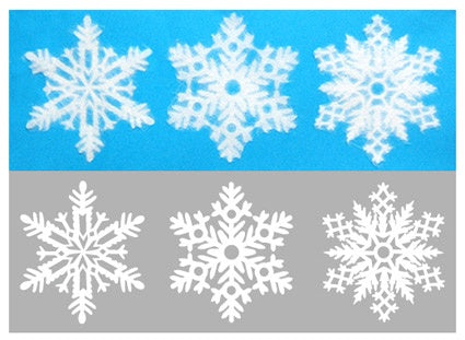SNOWFLAKES  Washi Paper Decals  Japan  S Size