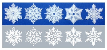 SNOWFLAKES  Washi Paper Decals  Tokyo SS size
