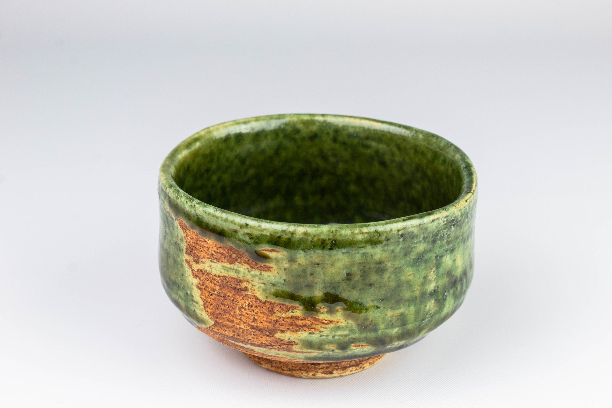 Oribe Matcha Tea Bowl by Fudogama