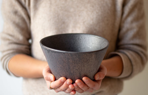 Sabi Ibushi Tall Bowl by Hechimon