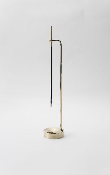 REVERSE  Brass Incense Stand by OBJT