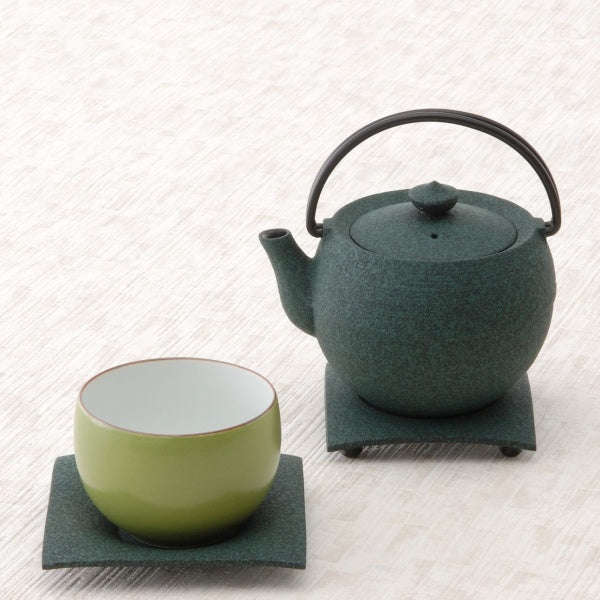 Marutama Green Cast Iron Teapot