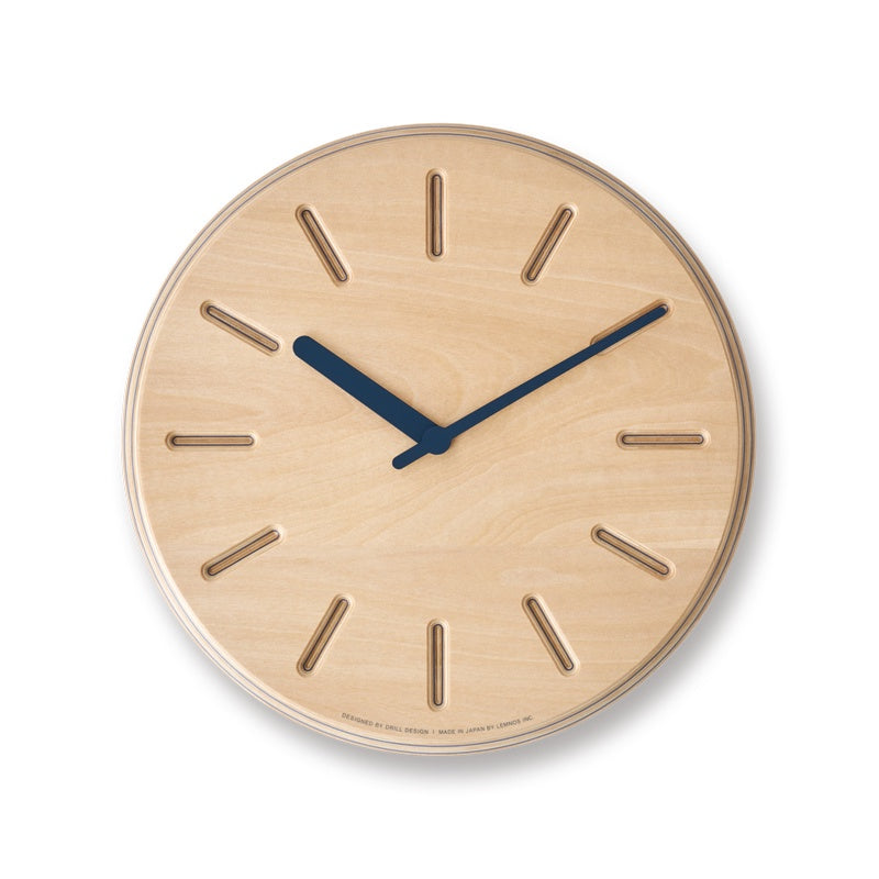 Paper Wood Clock by Drill Design