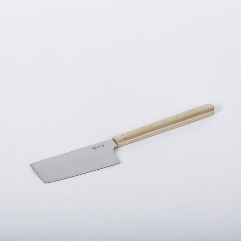 Azmaya Cheese  / Butter Knife with Brass Handle