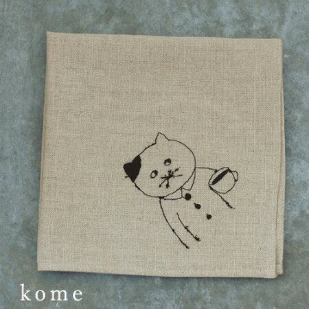 Sennokoto Embroidery Linen Furoshiki Wrapping Cloth by Classiky