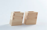 Leaning Hinoki Sake Server Set  by Ryoki Ohashi
