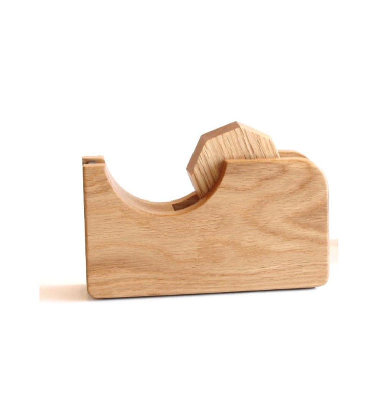 Oak Wood Tape Dispenser