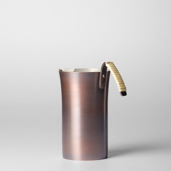 Chirori Copper Sake Pitcher and Warmer