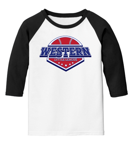 WLL Youth 3/4-Sleeve Baseball Cut Tee