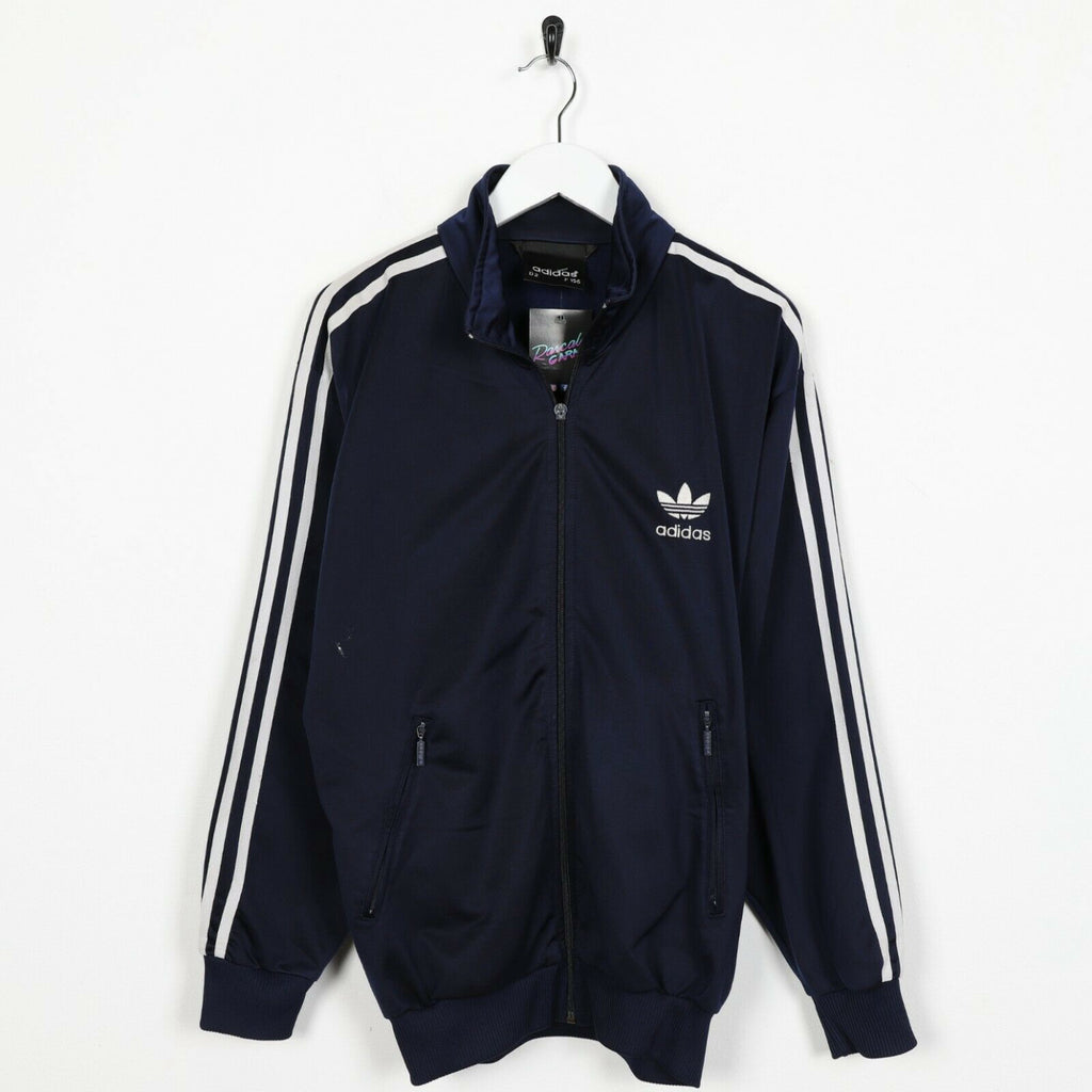 Vintage 80s ADIDAS Small Logo Zip Up Track Top Jacket Blue | Small S