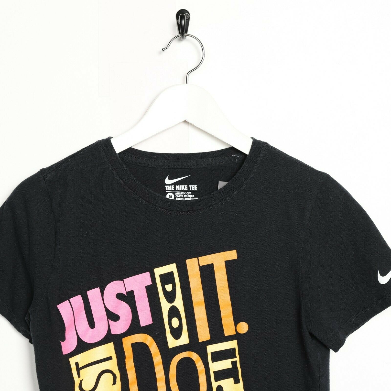 Vintage Nike Graphic Logo T Shirt Tee Black Small S