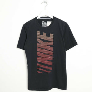 Vintage NIKE Big Graphic Logo T Shirt Tee Black | Small S