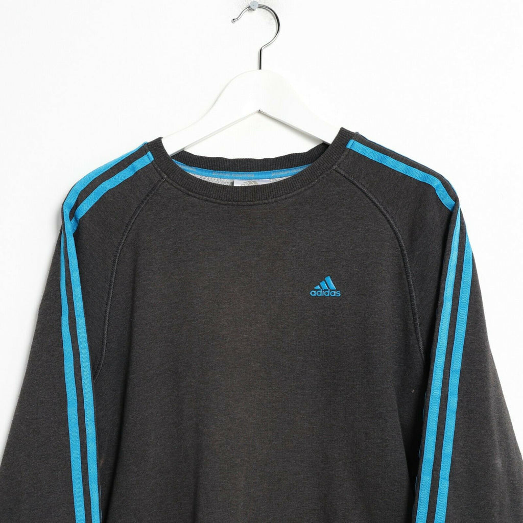 Vintage ADIDAS Small Logo Sweatshirt Jumper Grey small S