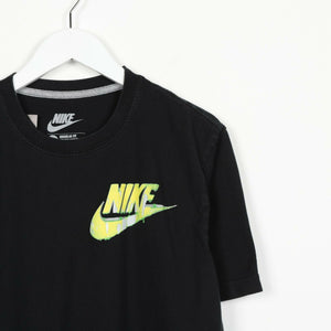 Vintage NIKE Graphic Logo T Shirt Tee Black | Medium M