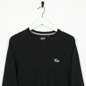 Vintage VANS Small Logo Lightweight Sweatshirt Jumper Black small S
