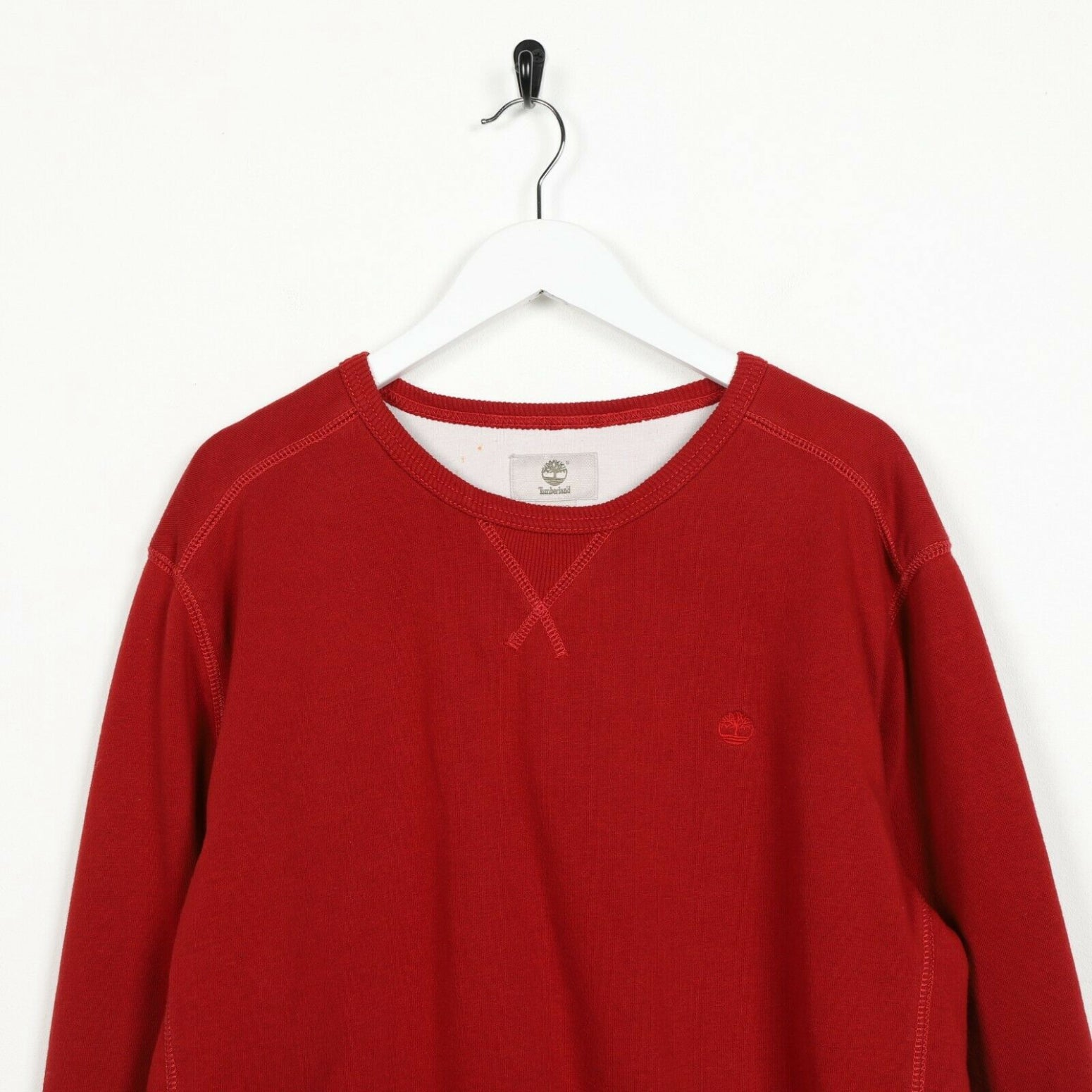 Vintage TIMBERLAND Small Logo Sweatshirt Jumper Red XL