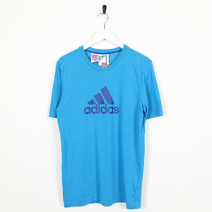 Vintage ADIDAS Central Logo T Shirt Tee Blue Medium M