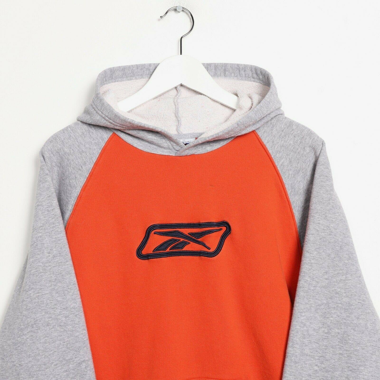Vintage Women's REEBOK Big Logo Hoodie Sweatshirt Orange | Small S
